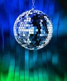 De bal van de disco met lichten Stock Fotografie