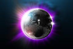 De bal van de disco met lichten Royalty-vrije Stock Foto's