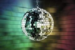 De bal van de disco met lichten Royalty-vrije Stock Fotografie