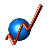 De Bal van de Grafiek van het pictogram Stock Fotografie