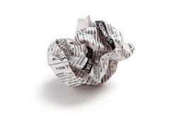 De bal van de krant Royalty-vrije Stock Foto's
