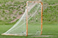 De bal van de lacrosse in netto voor een doel Royalty-vrije Stock Afbeeldingen