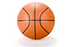 De bal van de mand op witte sport als achtergrond Royalty-vrije Stock Afbeeldingen
