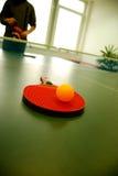 De bal van de pingpong Stock Fotografie