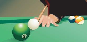 De bal van de pool en dollarteken Stock Afbeeldingen
