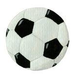 De bal van de voetbal die op wit wordt geïsoleerdv Stock Foto's