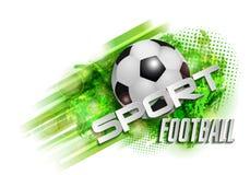 De bal van de voetbalbanner Stock Fotografie