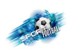 De bal van de voetbalbanner Stock Afbeeldingen