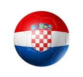 De bal van de voetbalvoetbal met de vlag van Kroatië Stock Afbeelding