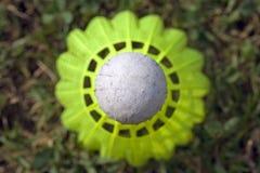 De bal van het badminton Stock Foto