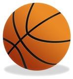 De bal van het basketbal Stock Afbeeldingen