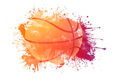 De bal van het basketbal royalty-vrije illustratie