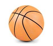 De bal van het basketbal op witte achtergrond Stock Afbeelding