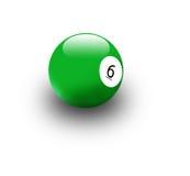De bal van het biljart Stock Fotografie