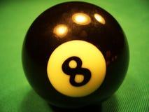 De bal van het biljart - achtste Stock Foto's