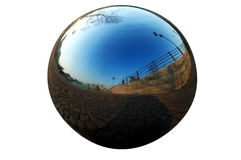 De bal van het chroom Royalty-vrije Stock Afbeeldingen