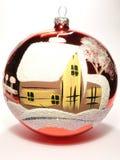 De bal van het glas met huis Stock Afbeelding