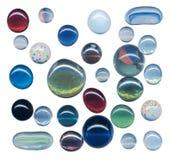 De bal van het glas op wit Royalty-vrije Stock Afbeeldingen