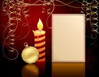 De bal van het kaarslicht en van Kerstmis stock illustratie