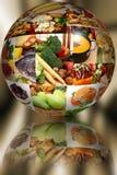 De Bal van het voedsel over Samenvatting Royalty-vrije Stock Afbeeldingen