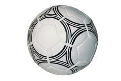 De bal van het voetbal, die op een witte achtergrond wordt geïsoleerdt Royalty-vrije Stock Afbeelding