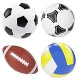 De Bal van het voetbal die op Witte Achtergrond wordt geïsoleerdo Royalty-vrije Stock Afbeelding