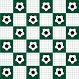 De bal van het voetbal Het vereiste ball Groene Witte het Schaakraad Diamond Background van de voetbalbal Stock Fotografie