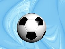 De bal van het voetbal met hoogte - technologieachtergrond Royalty-vrije Stock Foto