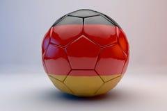 De bal van het voetbal met vlag Royalty-vrije Stock Fotografie