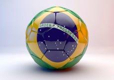 De bal van het voetbal met vlag Royalty-vrije Stock Foto's