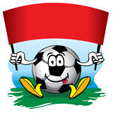 De bal van het voetbal met vlag. Vector. royalty-vrije illustratie