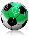 De bal van het voetbal met voetbalgebied Royalty-vrije Stock Fotografie