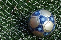 De Bal van het voetbal in Netto Royalty-vrije Stock Foto