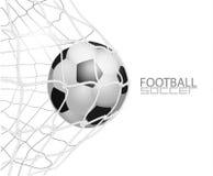 De Bal van het voetbal in Netto Geïsoleerd op Witte Achtergrond, Vectorillustratie Royalty-vrije Stock Afbeelding