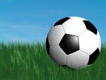 De bal van het voetbal op gras stock illustratie