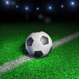 De bal van het voetbal op grasgebied Vector Illustratie