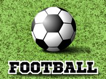 De bal van het voetbal op groene grasachtergrond Eps10 Vector vector illustratie