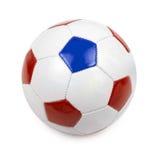 De bal van het voetbal op wit Stock Afbeelding
