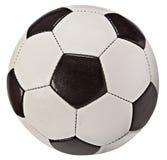 De Bal van het voetbal (Sinaasappel en Blauw) - dat op Wit wordt geïsoleerdd Stock Afbeelding