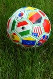 De Bal van het Voetbal van de Kop van de wereld Royalty-vrije Stock Foto