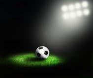 De bal van het voetbal van stadion Royalty-vrije Stock Afbeelding