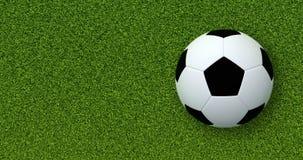 De bal van het voetbal (Voetbal) op groen gras Royalty-vrije Stock Foto's