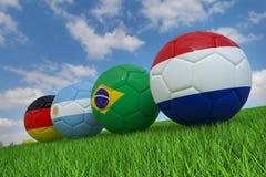 De bal van het wereldbekervoetbal vector illustratie