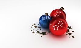 De bal van Kerstmis Stock Afbeeldingen