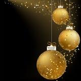 De bal van Kerstmis die van sneeuwvlokken wordt gemaakt. + EPS8 Stock Foto's