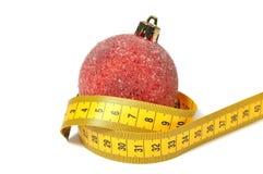 De bal van Kerstmis en maatregelenband Stock Afbeelding