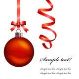 De Bal van Kerstmis hangt Royalty-vrije Stock Afbeeldingen