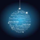 De bal van Kerstmis langs van Kerstmistekst Stock Foto