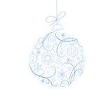 De bal van Kerstmis met sneeuwvlokken Royalty-vrije Stock Foto