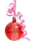 De bal van Kerstmis over wit stock afbeelding